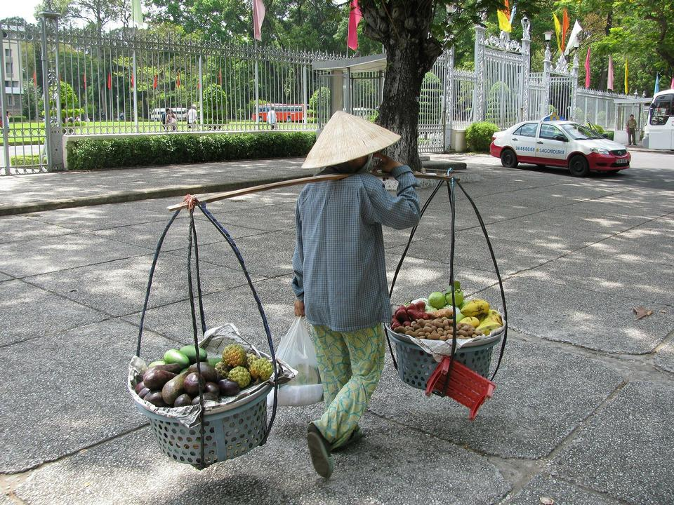 Free Woman Carrying Baskets