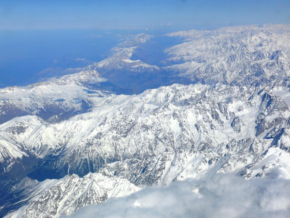 Free view of the Caucasus Mountains