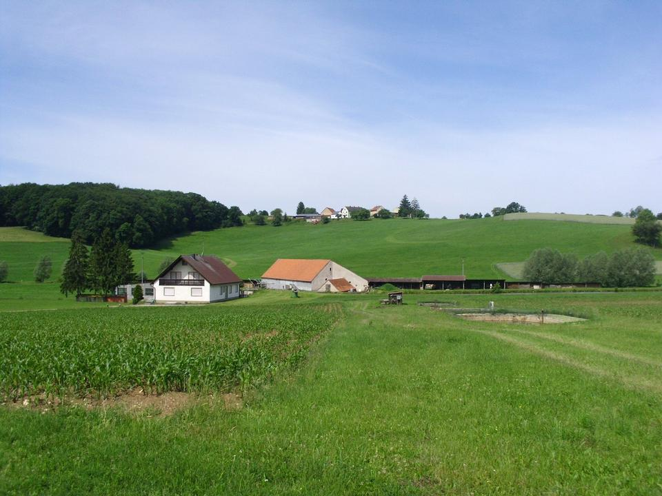 Free Landscape of rural villages in Germany