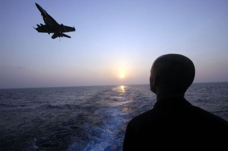 Free silhouette of F-18 fighter