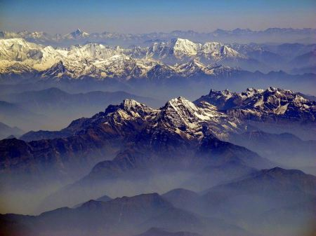 Free Beautiful Himalayas mountain landscape in a sunny day
