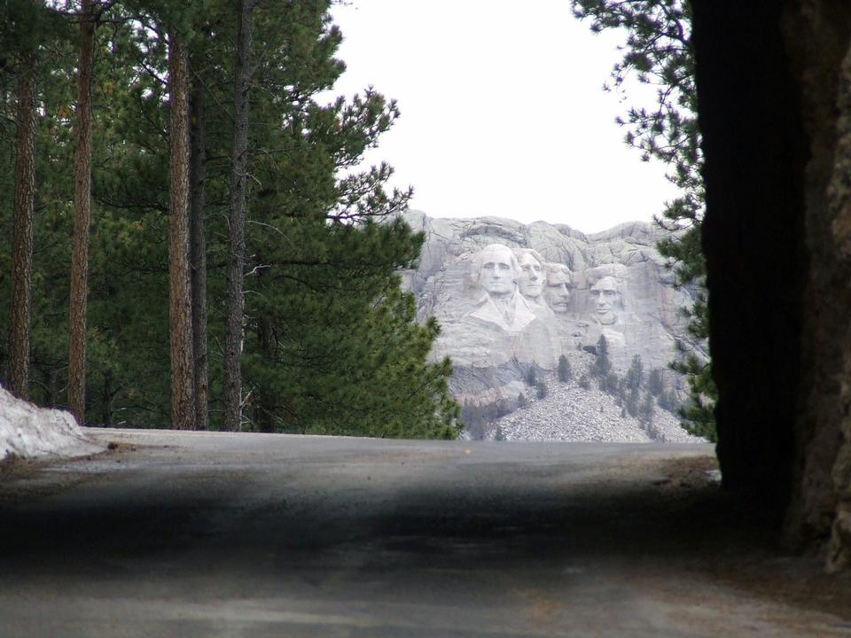 Free a tunnel on Iron Mountain Road NATIONAL MEMORIAL Mount Rushmore