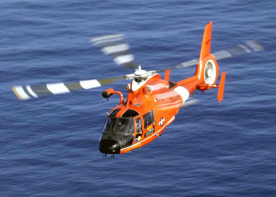 Free A Coast Guard HH-65A Dolphin rescue helicopter