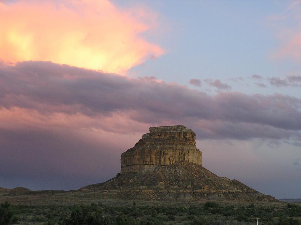 Free Fajada Butte at sunset
