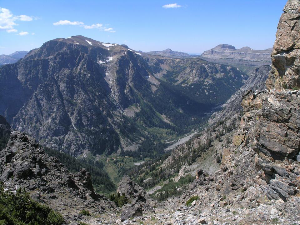 Free Death Canyon from Static Peak Trail