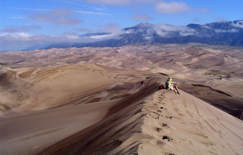 Free Hiker in Great Sand Dunes Wilderness