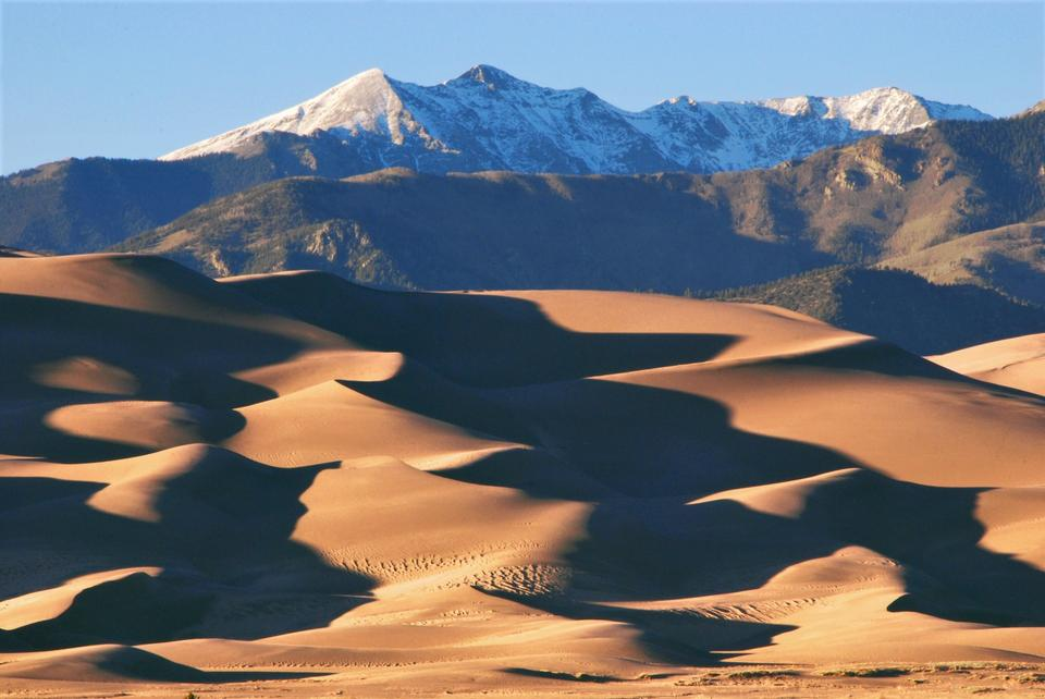Free Dunes and Cleveland Peak at Sunset