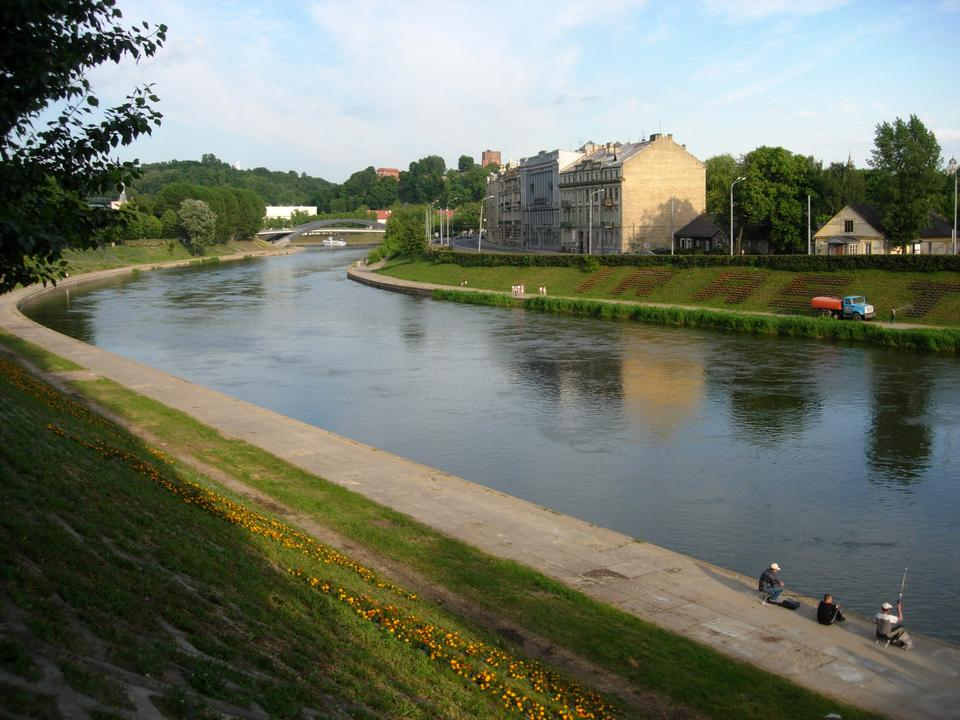 Free Neris River at Green Bridge, Vilnius