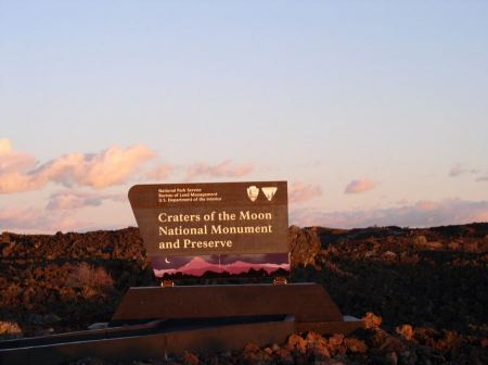 Free Entrance sign Craters Of The Moon National Monument & Preserve