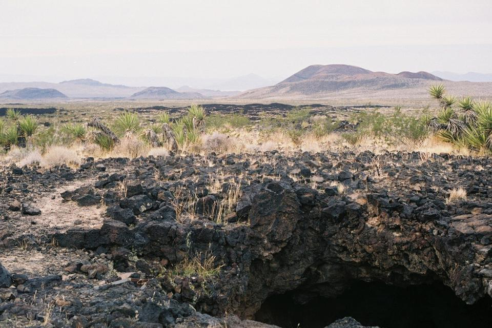 Free Lava Tube Entrance Mojave National Preserve
