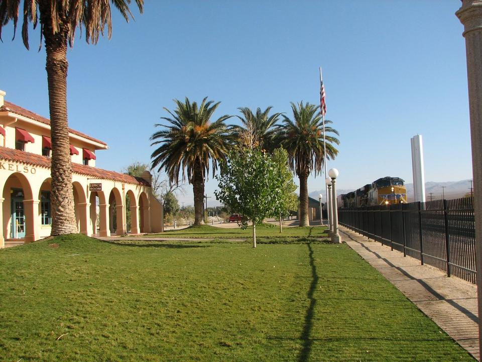 Free train pass by at the Kelso Depot