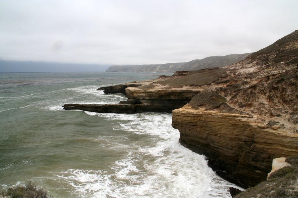 Free Cliff coast at northern part of Santa Rosa Island, Channel Island