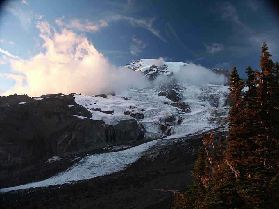 Free Mount Rainier from Alta Vista, Paradise