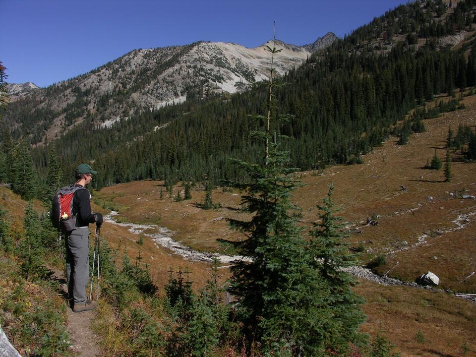 Free Hiker in meadows on Boulder Creek Trail