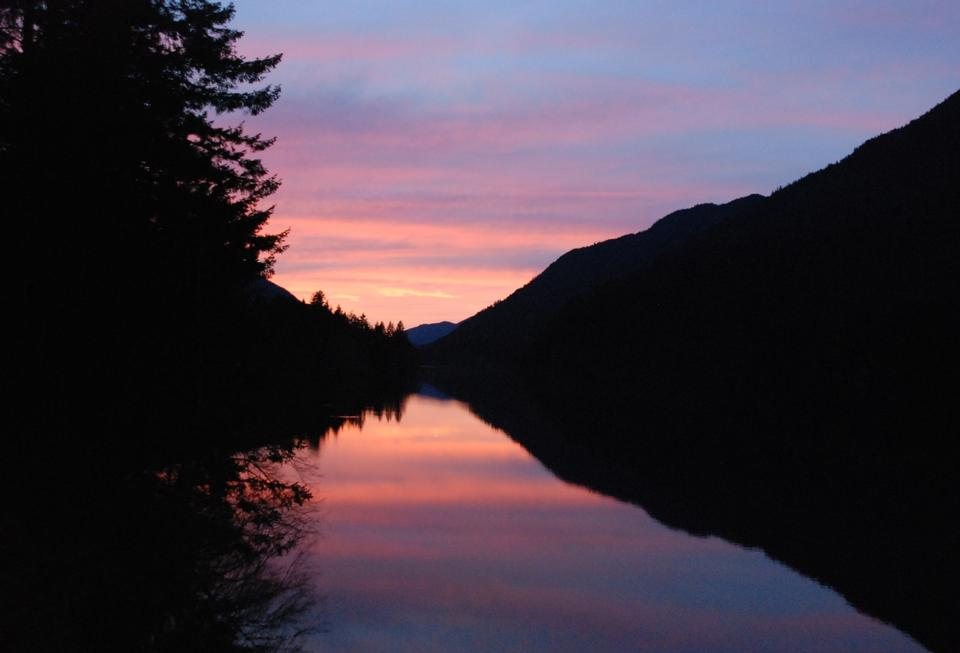 Free Lake Crescent sunset at Olympic National Park