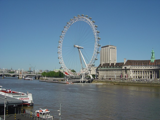 Free london eye wheel water river thames uk england