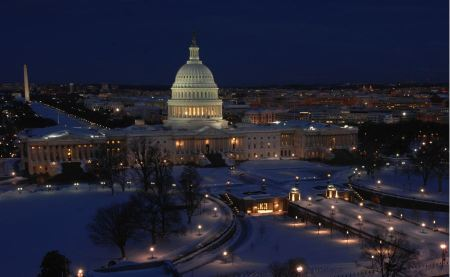 Free US Capitol Building in winter - Washington DC