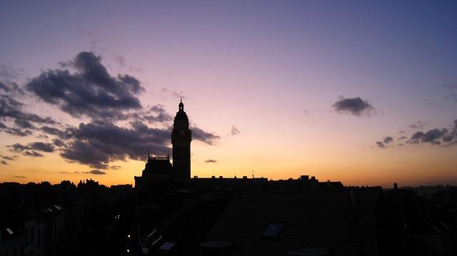 Free st gilles bruxelles commune church sunset
