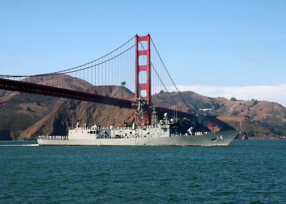 Free Sailors aboard USS Sides