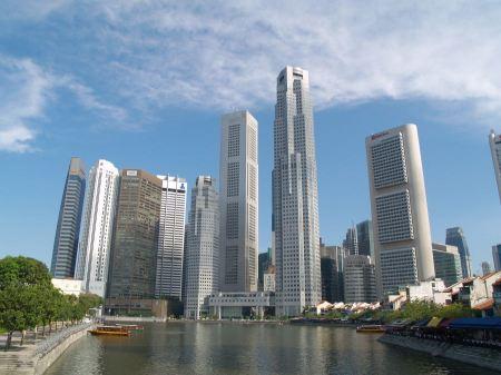 Free Singapore city skyline