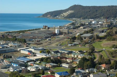 Free Burnie CBD and Port from Wilfred Campbell Memorial Reserve