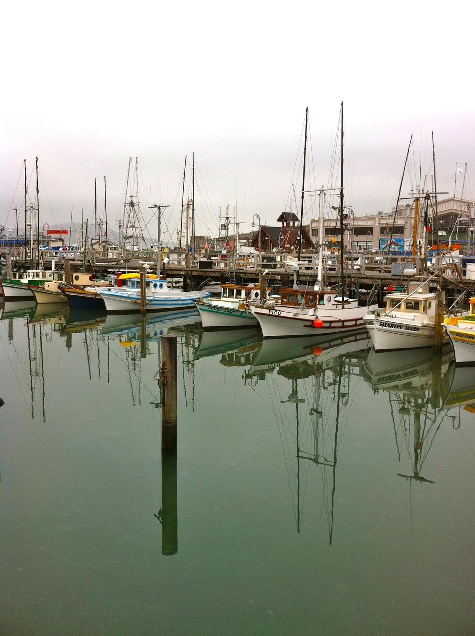 Free Fishing boats at Fisherman's Wharf in San Francisco