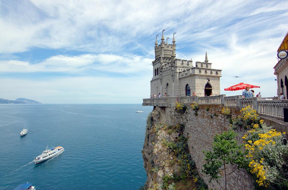 Free Swallow's Nest in Crimea, Ukraine.