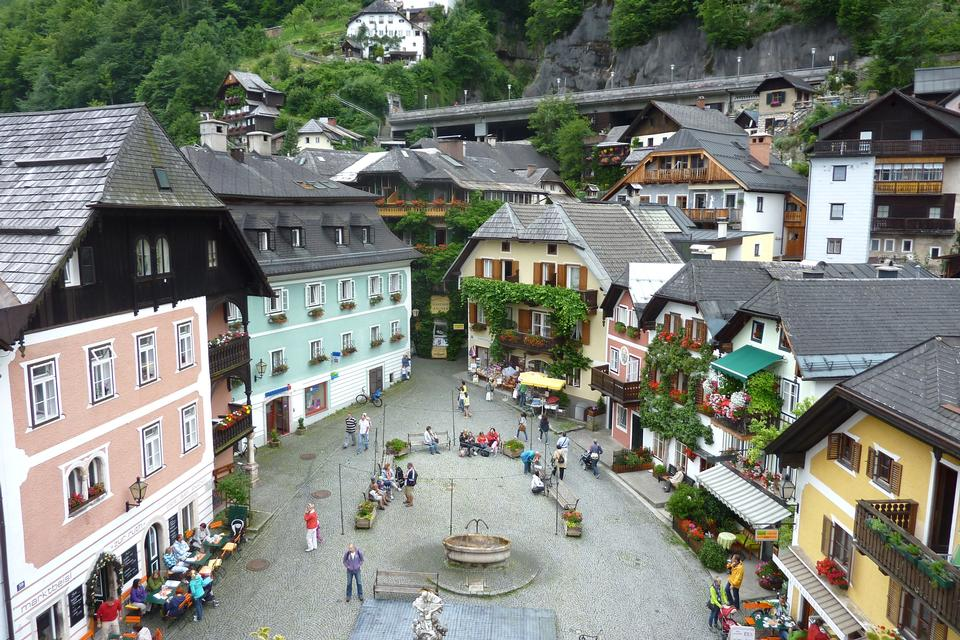 Free Small town Hallstatt Austria