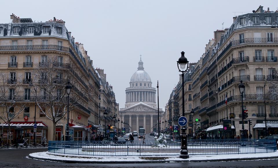 Free Landscape winter Paris France