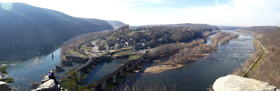 Free Harpers Ferry, West Virginia Panoramic View