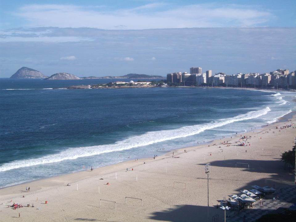 Free view of Copacabana beach in Rio de Janeiro. Brazil