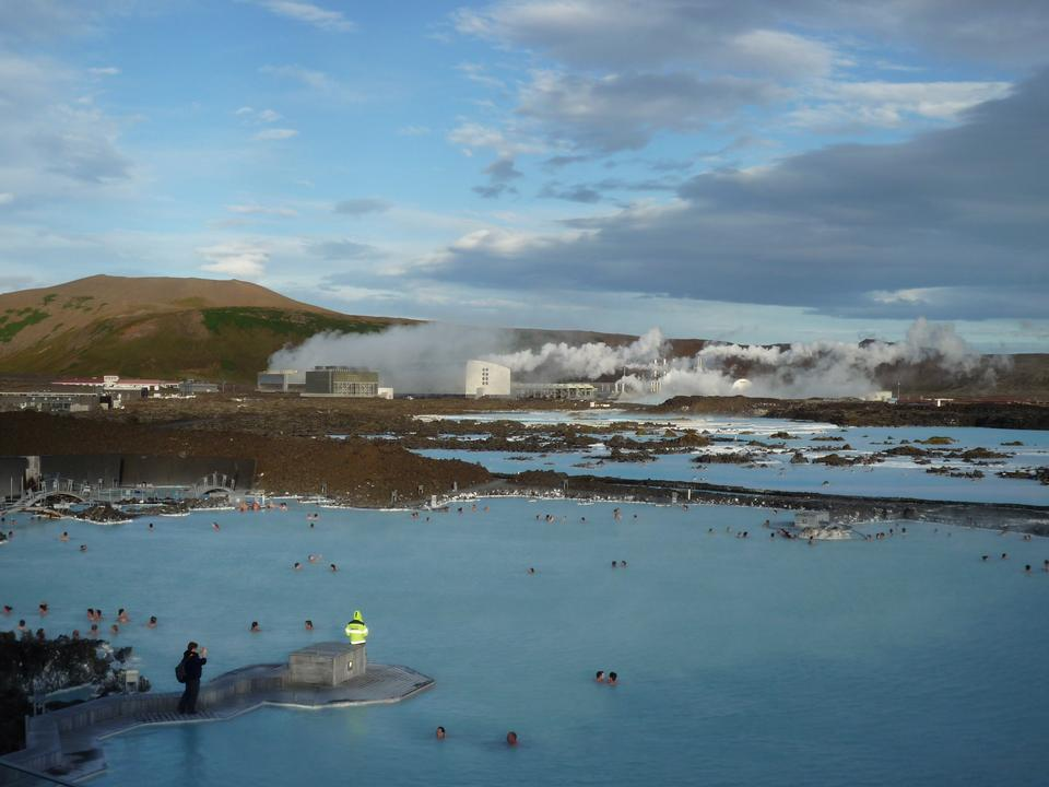 Free People bathing in The Blue Lagoon