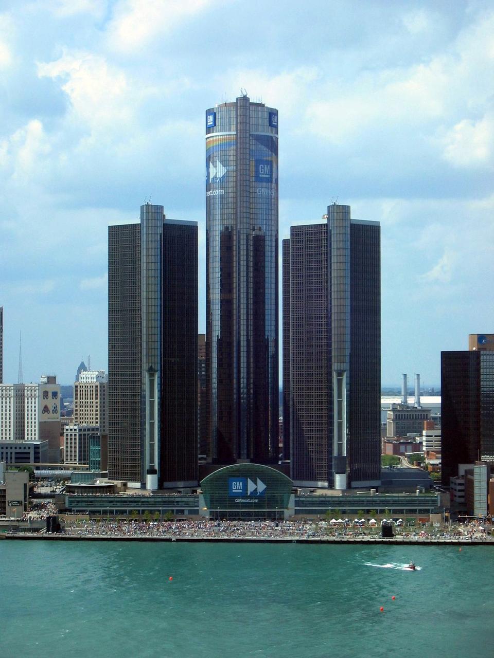 Free GM World Headquarters, Detroit, Michigan