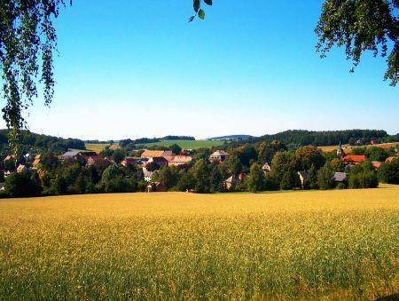 Free Landscape of Small Village