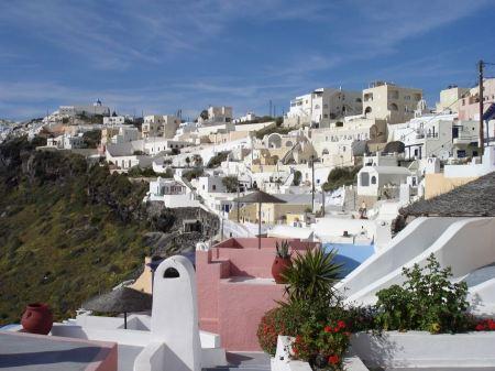 Free Firostefani, village in Santorini, Greece