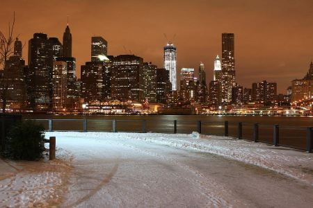 Free New York City  in winter with snow