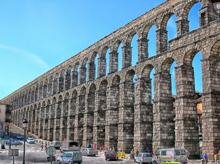 Free Aqueduct of Segovia in Spain