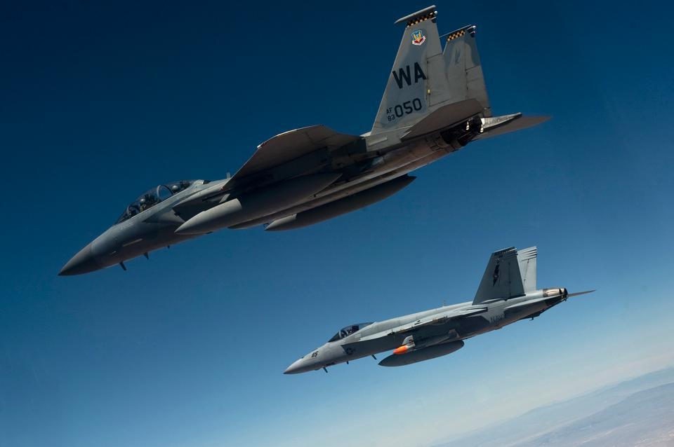 Free A U.S. Air Force F-15D Eagle flies