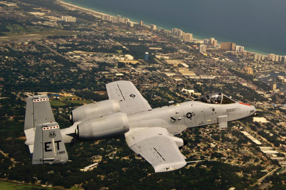 Free An A-10C Thunderbolt II flies over Florida's Gulf Coast