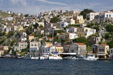 Free the harbour of Symi, Symi island, Greece