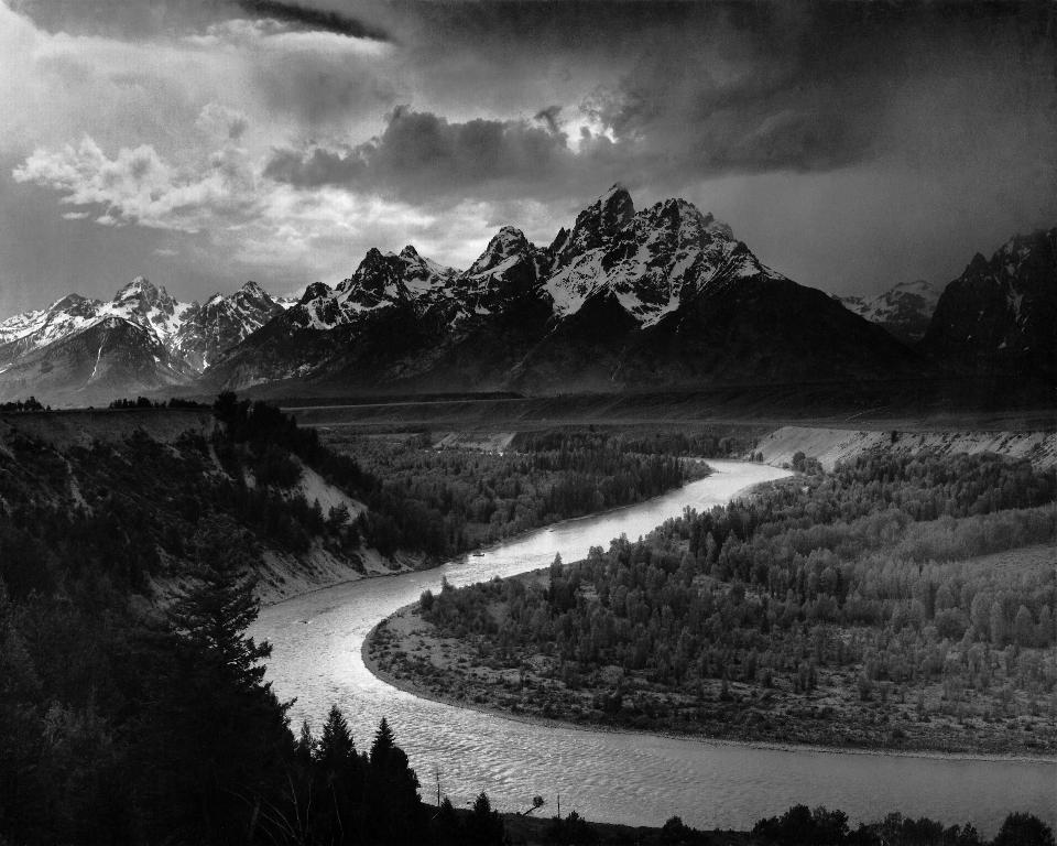 Free Ansel Adams The Tetons and the Snake River