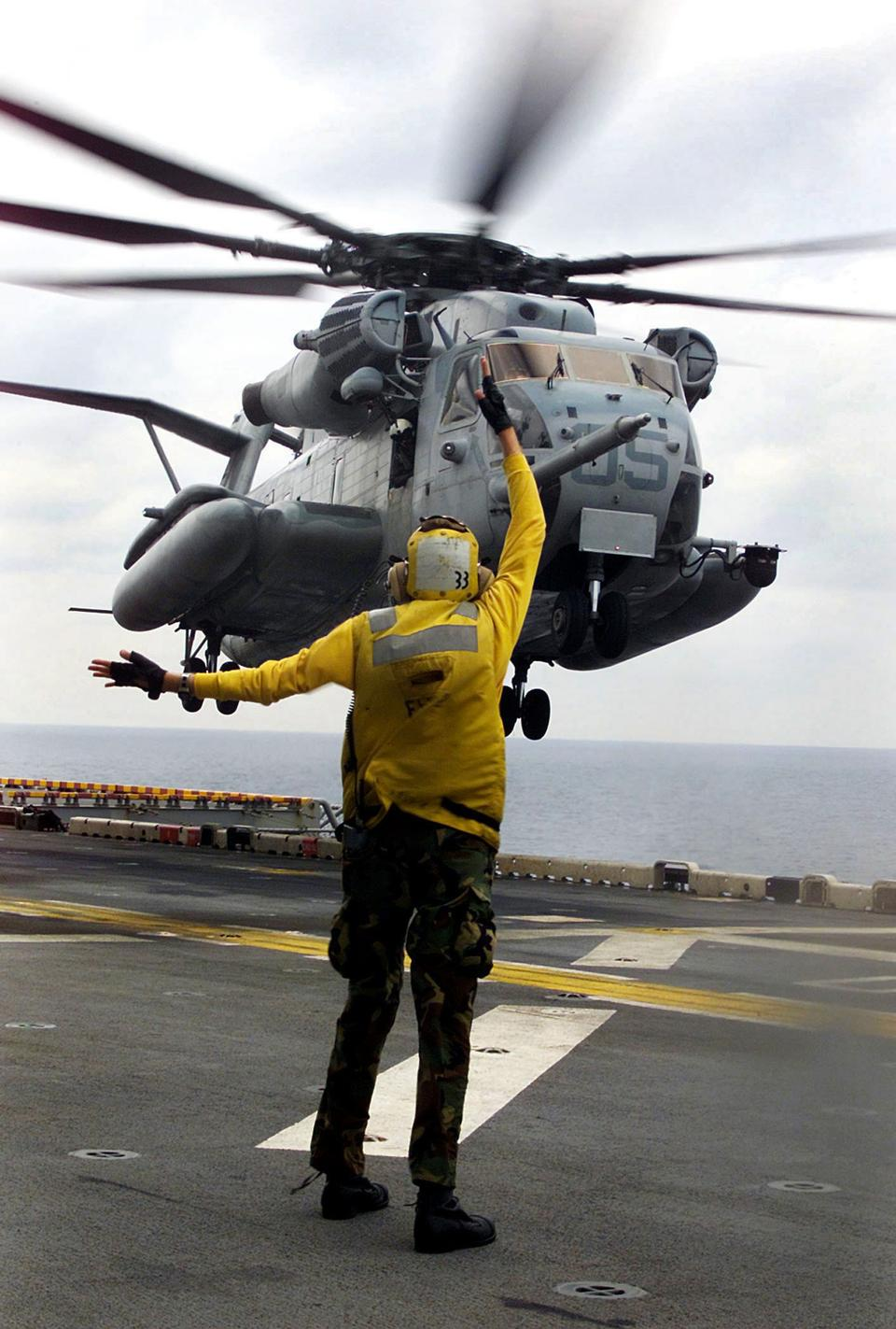 Free Marine Heavy Helicopter Squadron lands