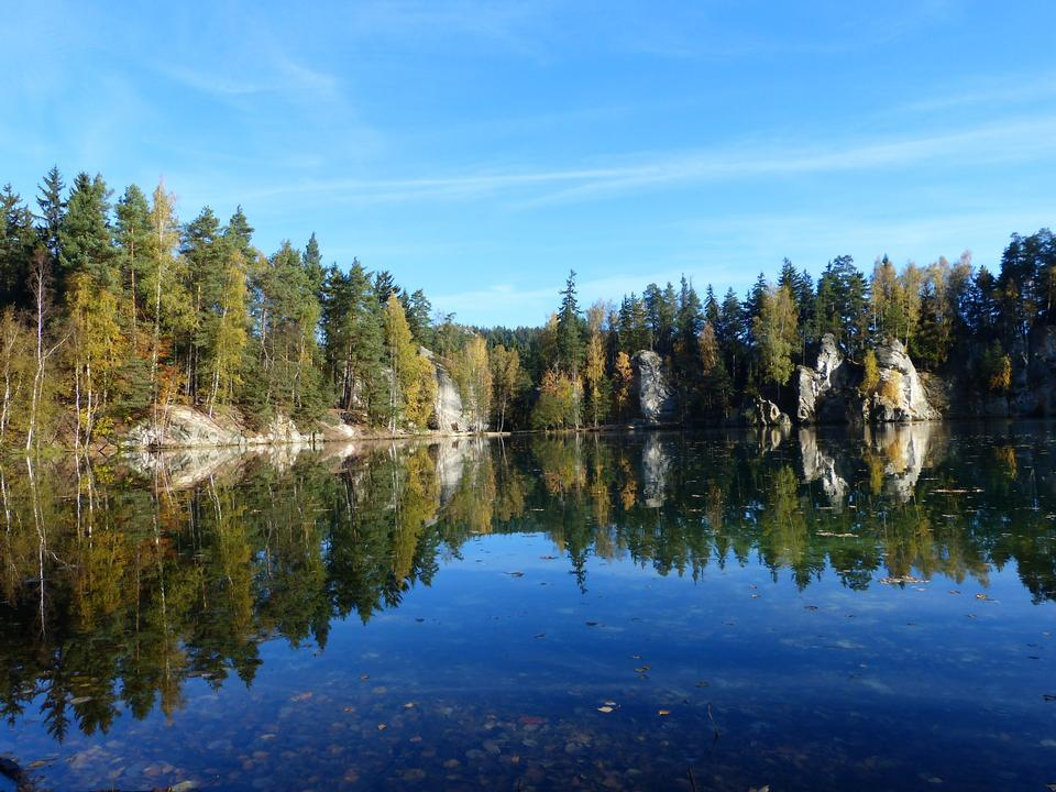 Free City of Rock Adrspach-Teplice. Czech Republic