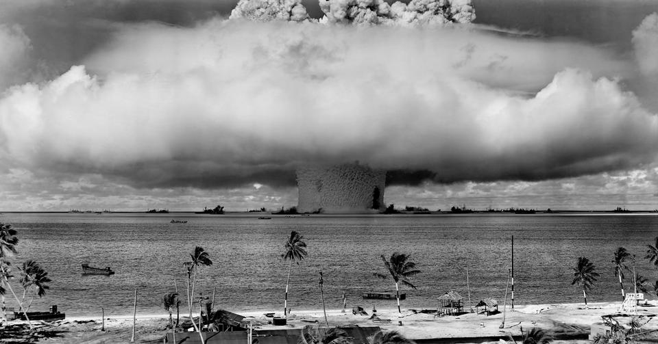 Free explosion, part of Operation Crossroads, a nuclear weapon test