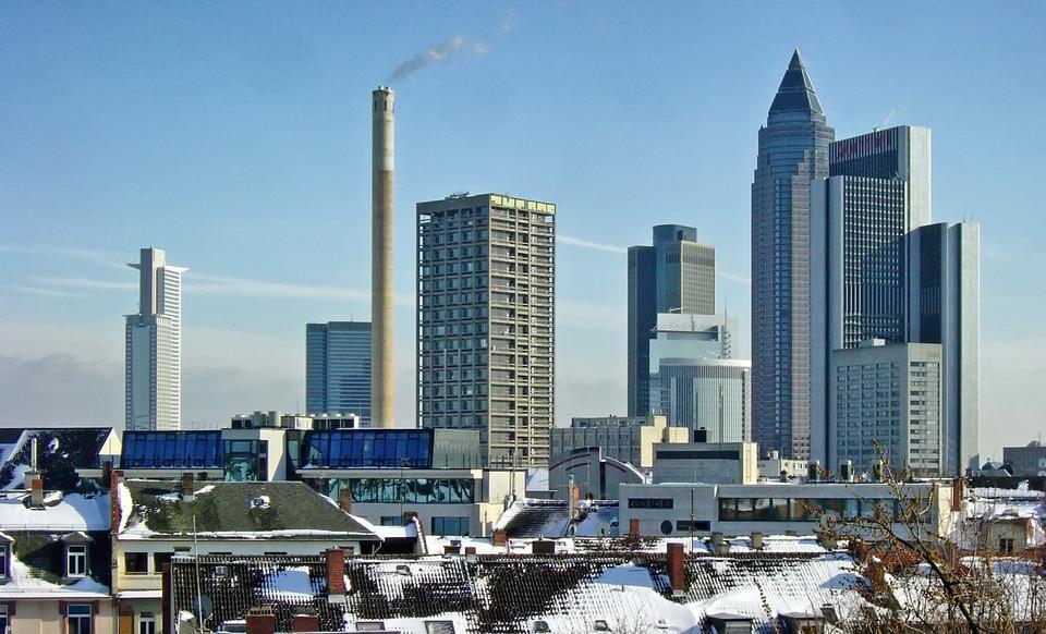 Free Skyscrapers in Frankfurt Germany
