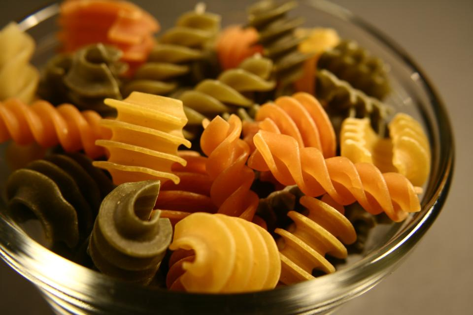 Free Uncooked Rotini Pasta On A Counter