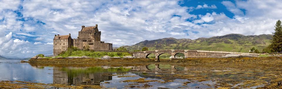 Free Panorama Eilean Donan Castle