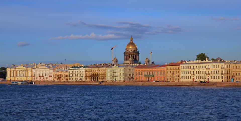 Free English Embankment in Saint Petersburg, Russia