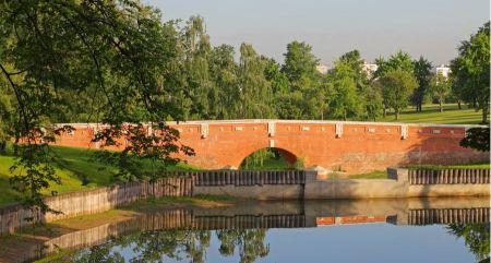 Free Orangery Bridge in Tsaritsyno Park, Moscow, Russia