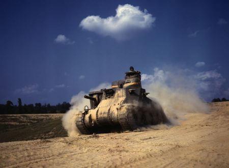 Free M3 Lee tank, training exercises, Fort Knox, Kentucky.